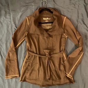 Lucky Brand brown wrap jacket/cardigan size Small